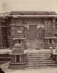 Hullabeed. The Great Temple. South entrance. [Hoysaleshwara Temple, Halebid.]